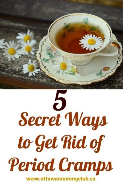 5 Secret Ways to Get Rid of Period Cramps