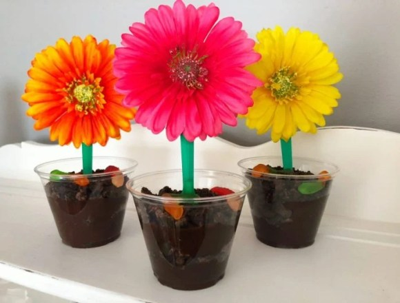 Flower Dirt Sundae Cups