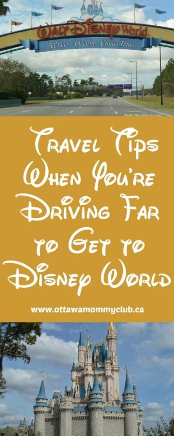 Travel Tips When You're Driving Far to Get to Disney World