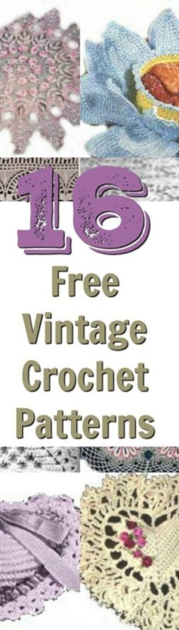 16 Free Vintage Crochet Patterns