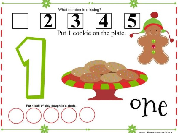 Gingerbread Play Dough Mats