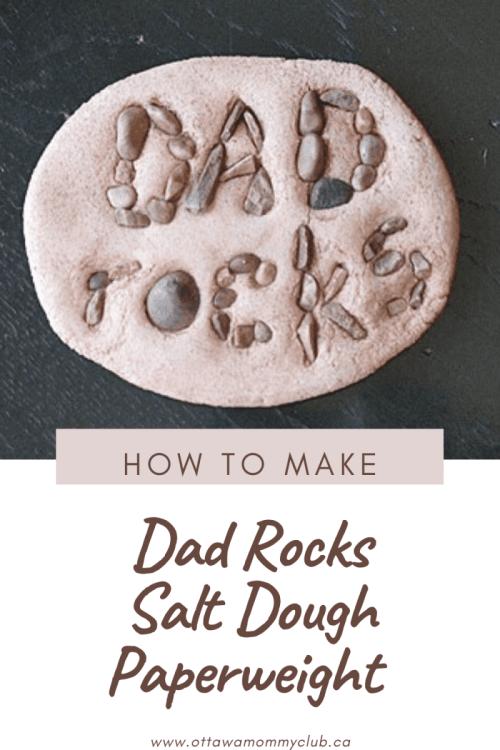 Dad Rocks Salt Dough Paperweight Craft