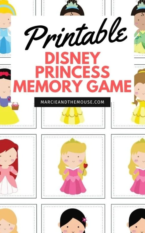 Disney Princess Memory Game by Macie and the Mouse.