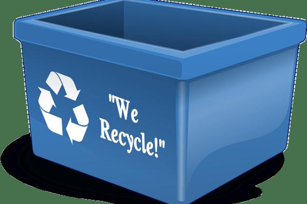 Blue Recycle bin