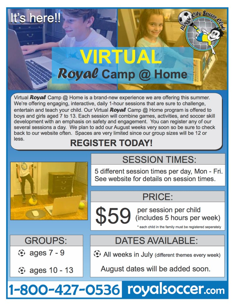 RCSC virtual camp brochure