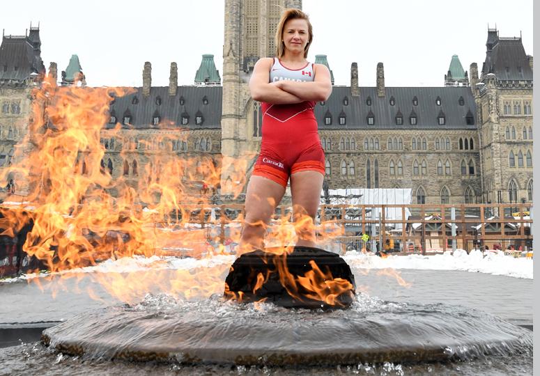 Erica Wiebe-Wrestling Canada-promo-1feb2020-photo: Scott Grant