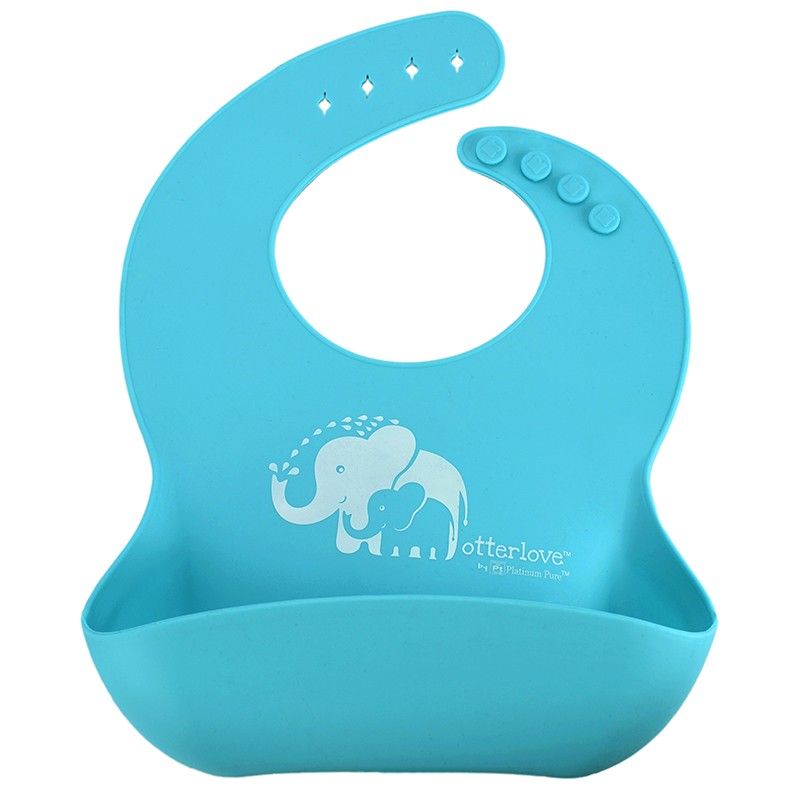 platinum-silicone-baby-bib-Blue-elephants
