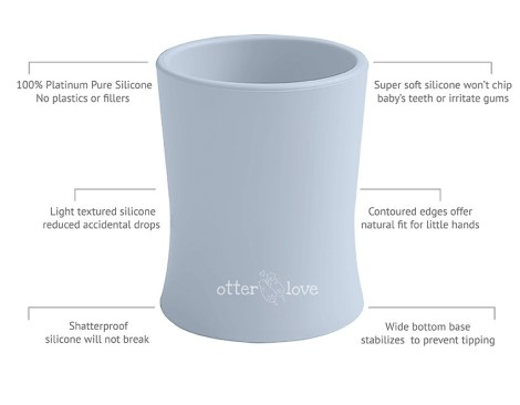 natural grip silicone baby cup tiny toddler training cup