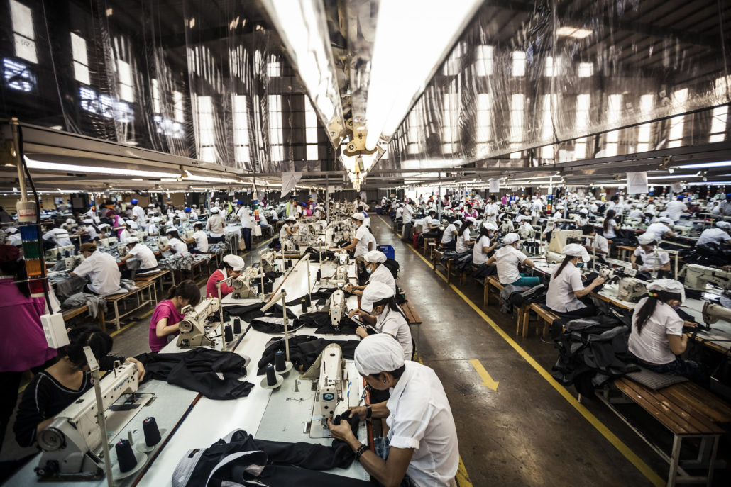 fabric worker