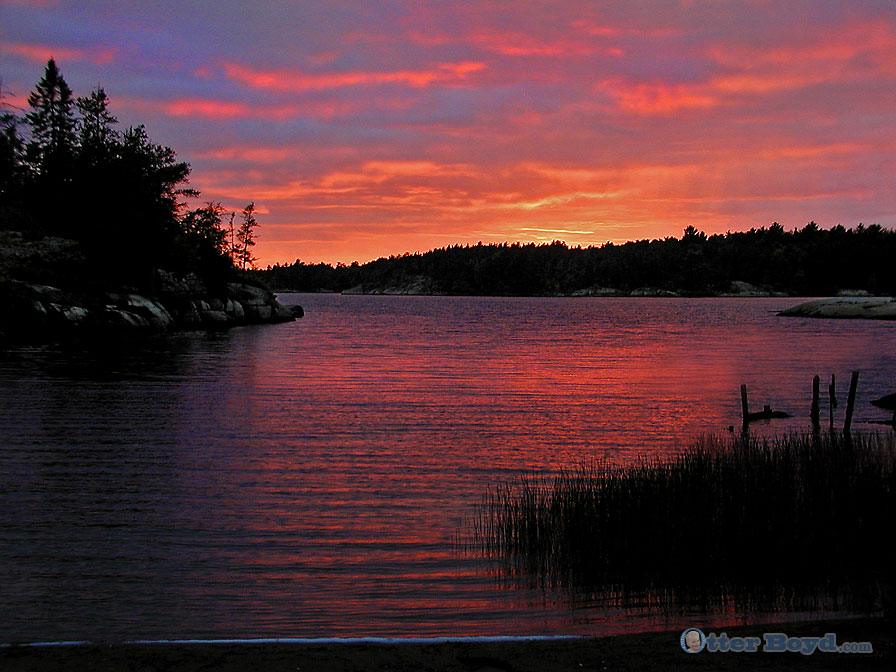 French River Nipissing Ontario Sunset