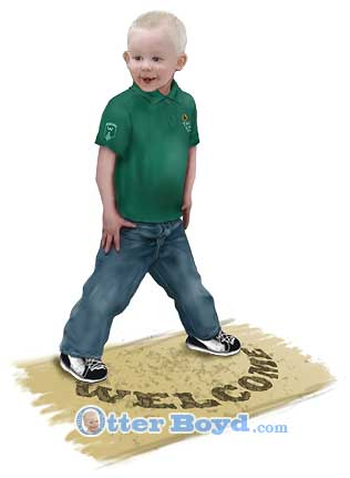 tlusa woodlands trail life usa boy standing on welcome mat