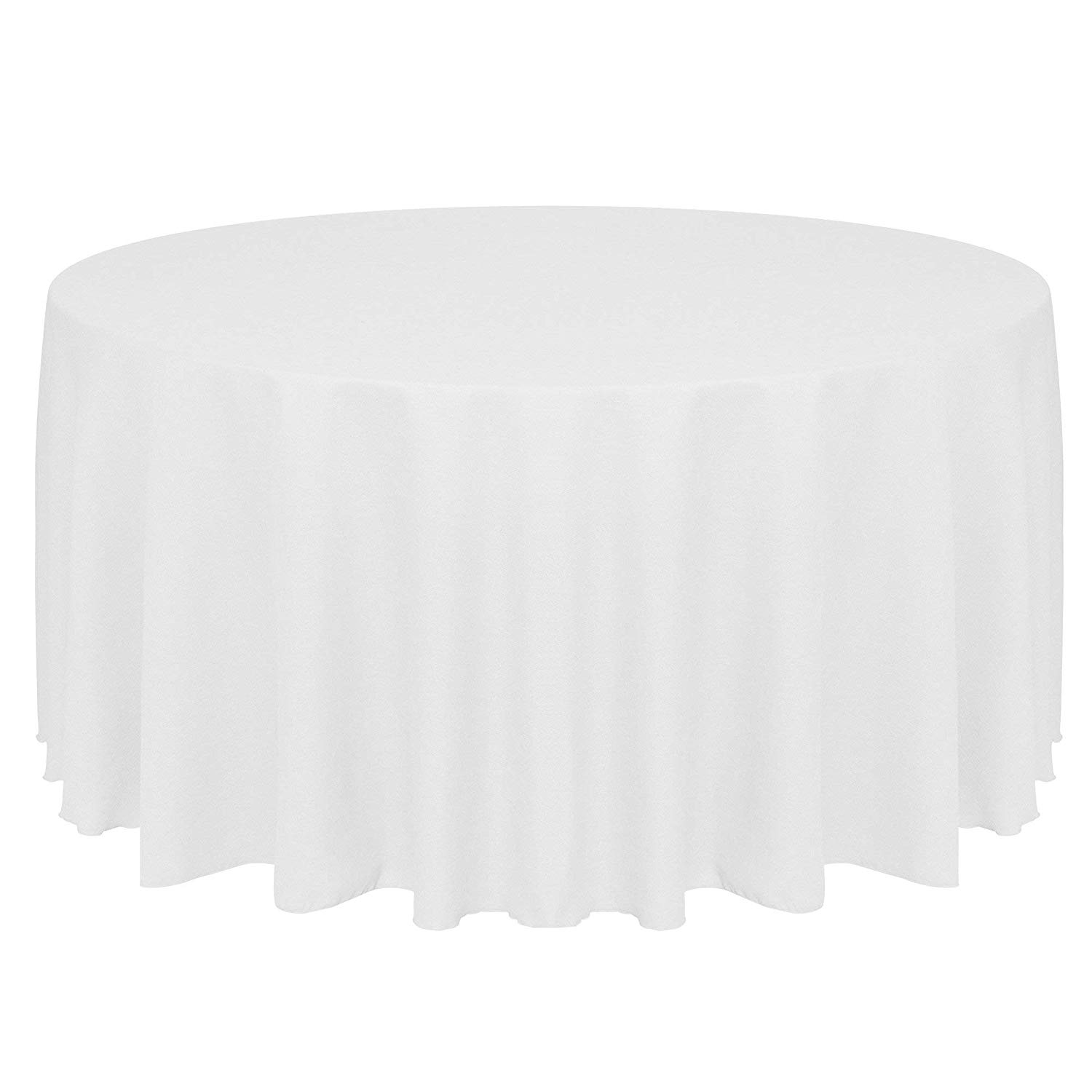 108 Inch Round Tablecloth White
