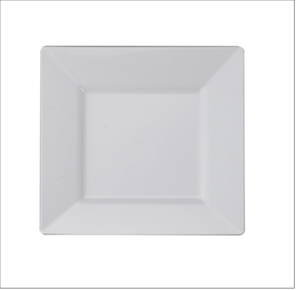 """5"""" Square China Dinner Plate"""