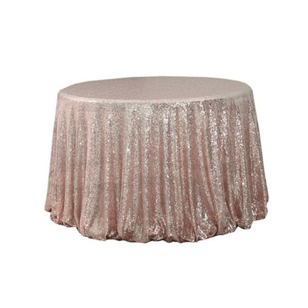 """108"""" Round Sequin Table Cloth"""