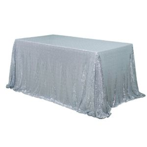 "90x120"" Sequin Rectangular Table Cloth"