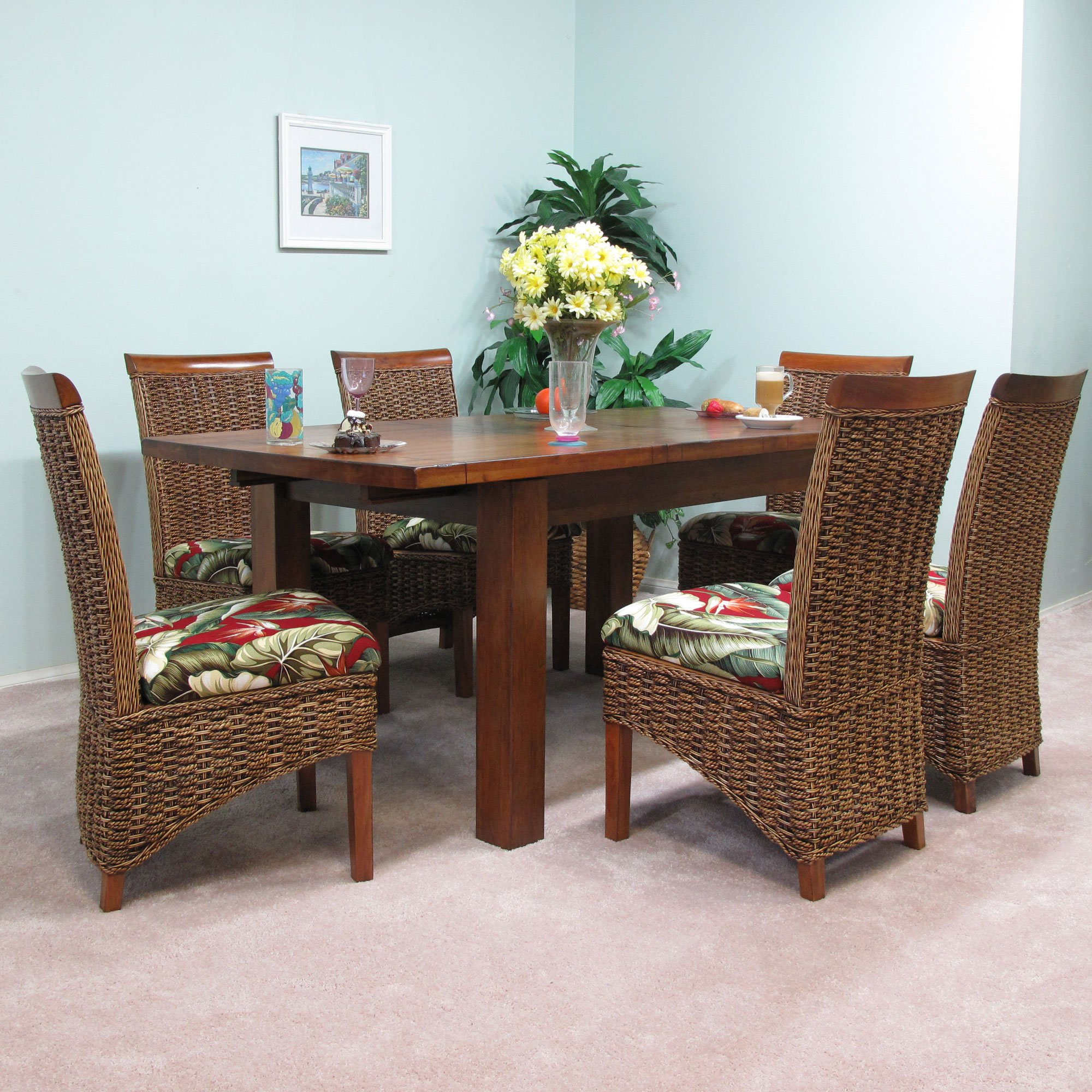banana leaf dining room chairs unusual for sale uk mahogany extension table with