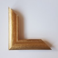 Gold leaf frame with filigree detailing