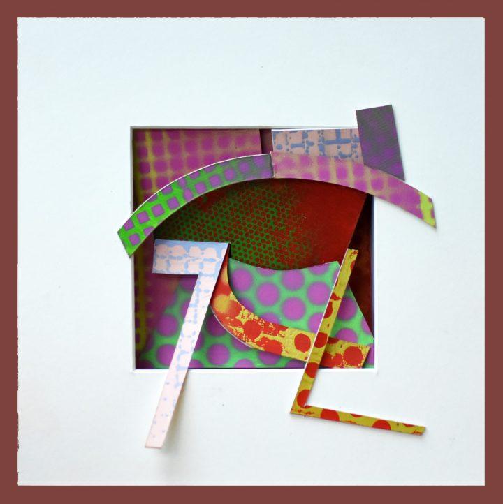 reliquary 9. 23x23x7 cm. painted surfaces, cut card.