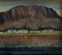 Easdale Village Oil on Canvas 45cm x 40cm
