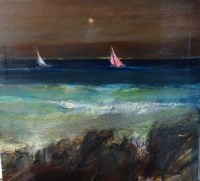 Night Sail Oli on Canvas 50cm x 40cm