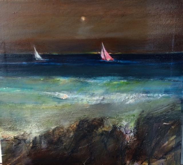 Night Sail Oli on Canvas 50cm x 40cm