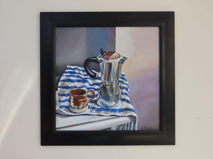 Morning Coffee - Oil on board