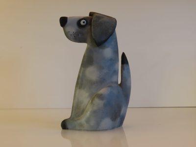Mungo the dog stoneware sculpture