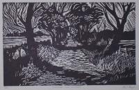 Sunshine and Shadow - Lino Cut