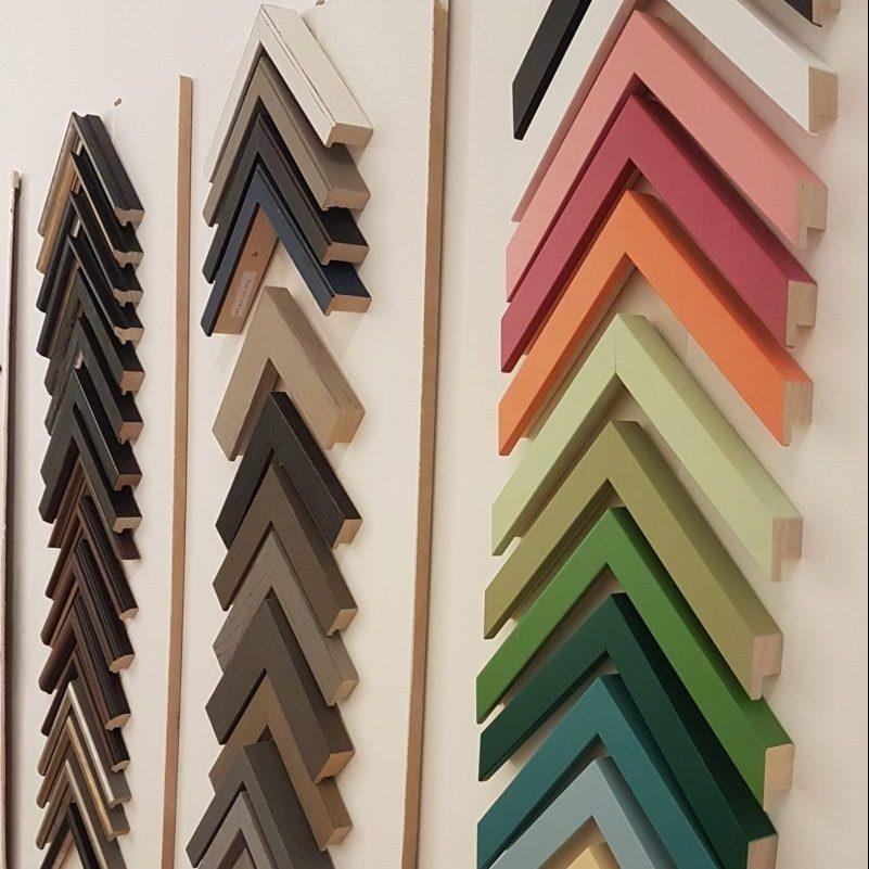 Framing sample wall