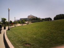 Shedd Aquarium, across an expanse of field