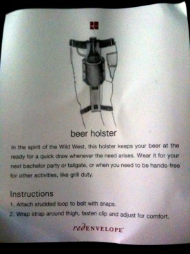 Beer Holster Instructions