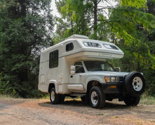 A Toyota Hilux Galaxy Motorhome Camper for sale in Portlnad, Oregon by OttoEx, A diesel 4x4 Toyota motorhome