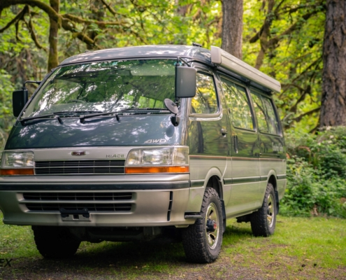 This is a 1993 Toyota Hiace Cruising Cabin for sale