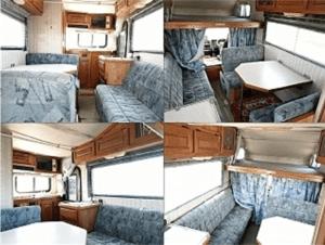 Hiace truck camper interior