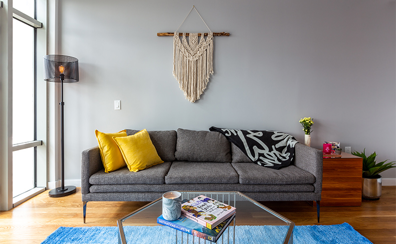 OTTO Greenpoint Luxury Apartments Reflect Couch