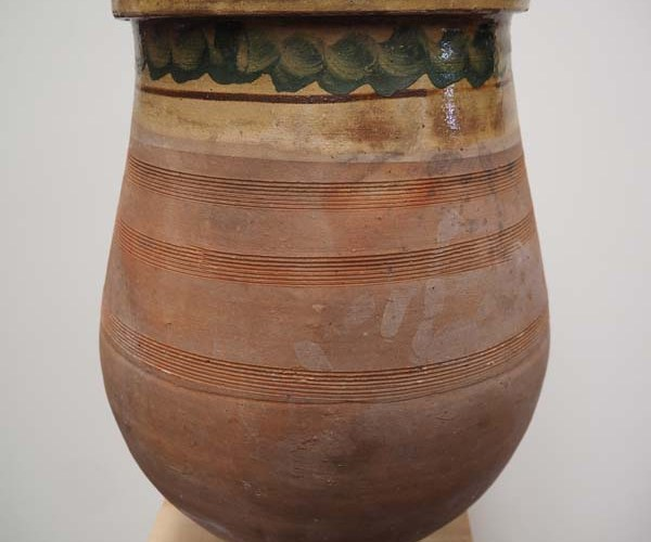 Glazed Terracotta pot from Cannakale