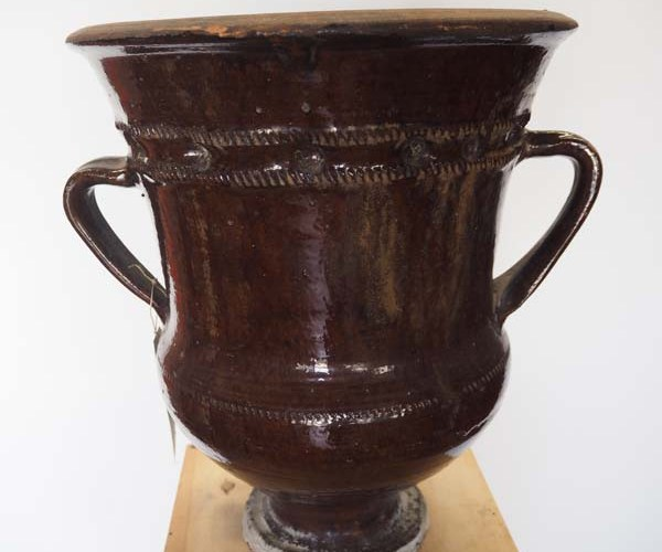 19th century Ottoman Period Glazed Terracotta Urn