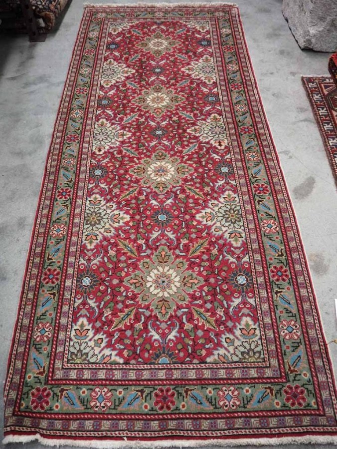 Hand Made Double Knotted Turkish Wool Carpet from Kayseri, Bunyan Approximately 60 years old