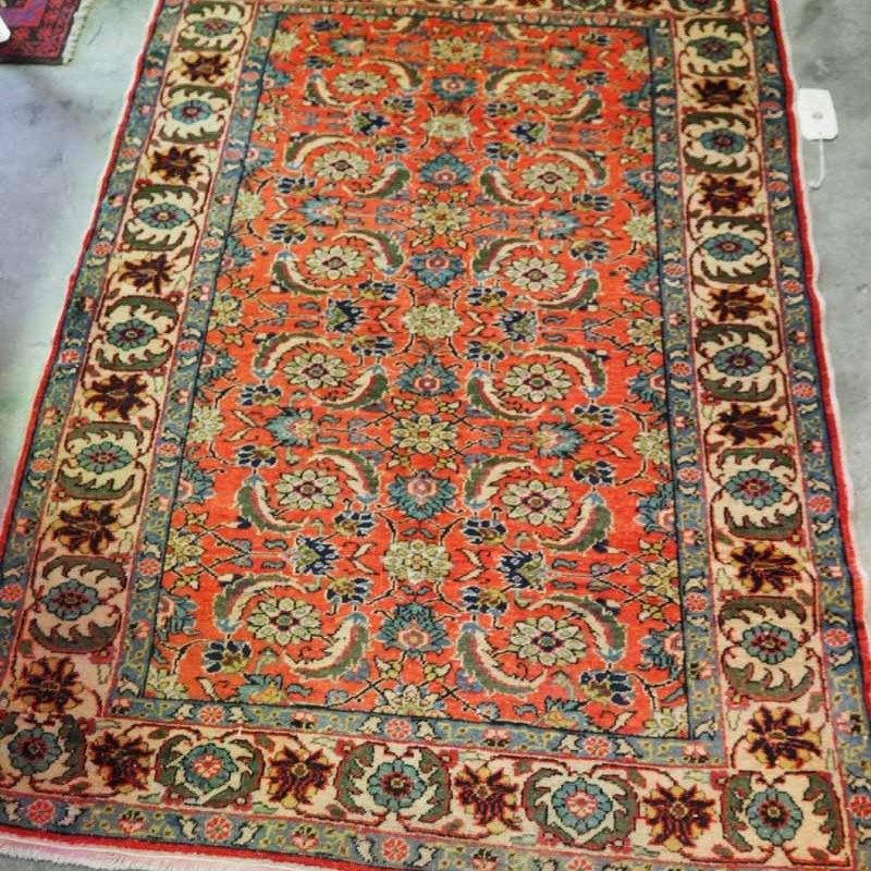 Hand made double knotted Turkish wool carpet from Kayseri. Approximately 90 years old