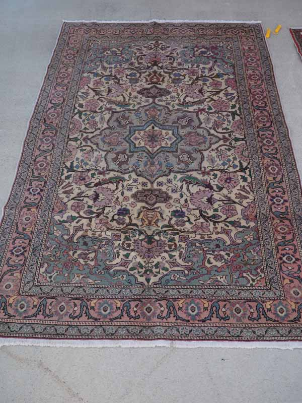 Hand made double knotted Turkish wool carpet from Kayseri. Approximatley 30 years old