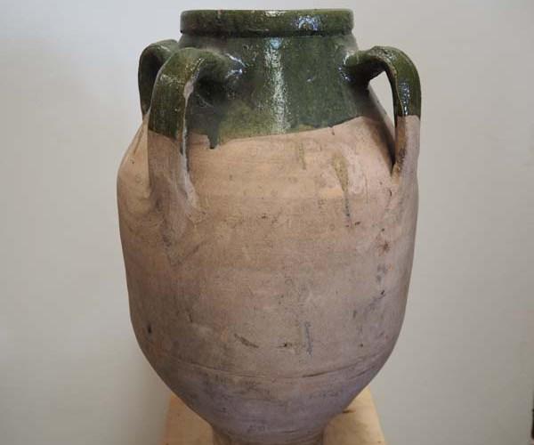 19th Century Terracotta pot Ottoman