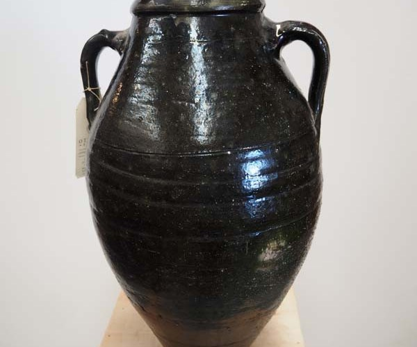 Ottoman Green glazed Honey pot