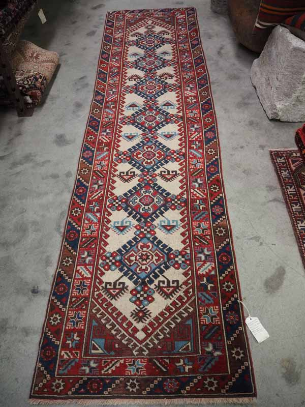 Double knotted Turkish wool Runner from Antalya. Approximately 60 - 70 years old
