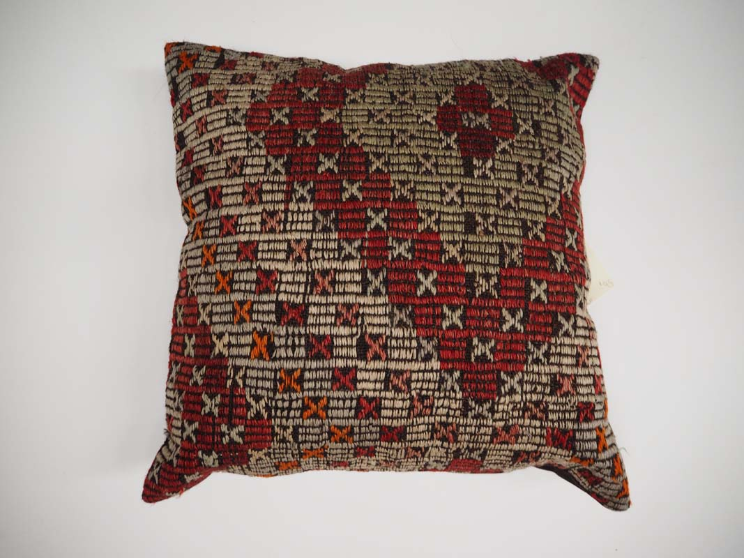 Antique Kilim Geometric Cushion