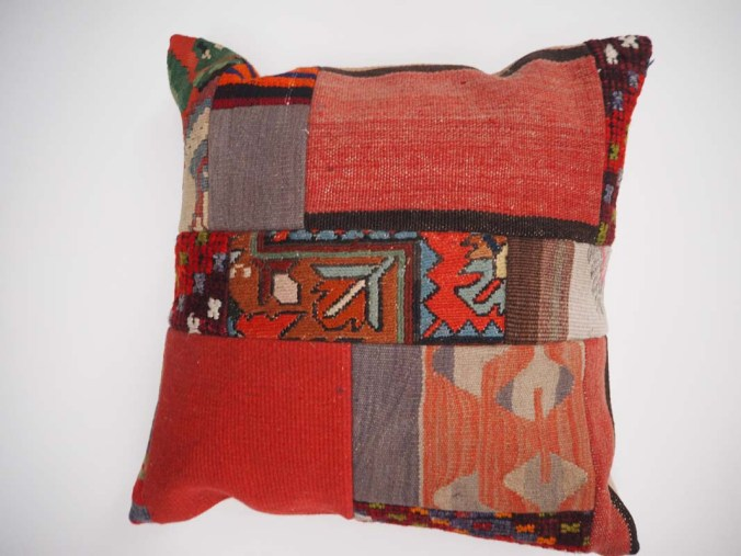 Antique Turkish Kilim Patchwork Cushion