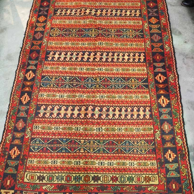 Rahra North west Persian wool on wool warp wrapped Kilim