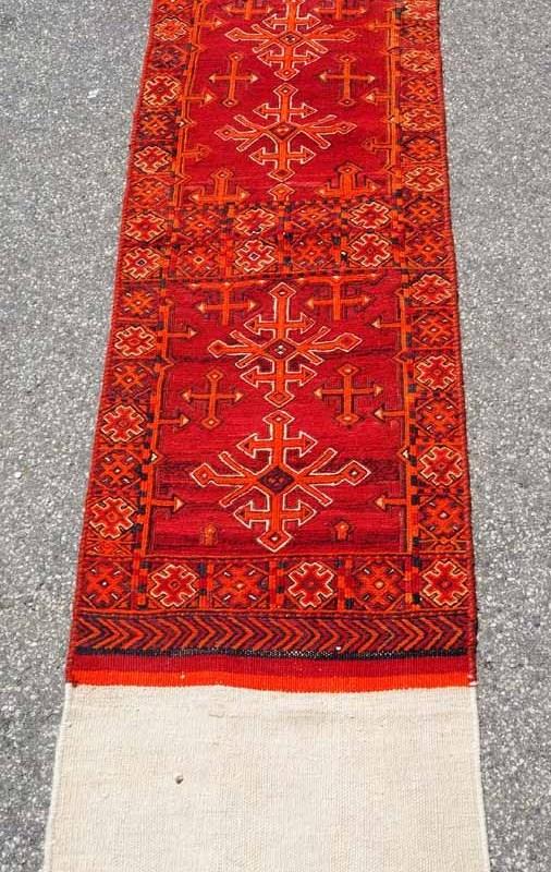 Wool on wool Hand knotted Kilim & Soumac weaving from North Perisa Avshar