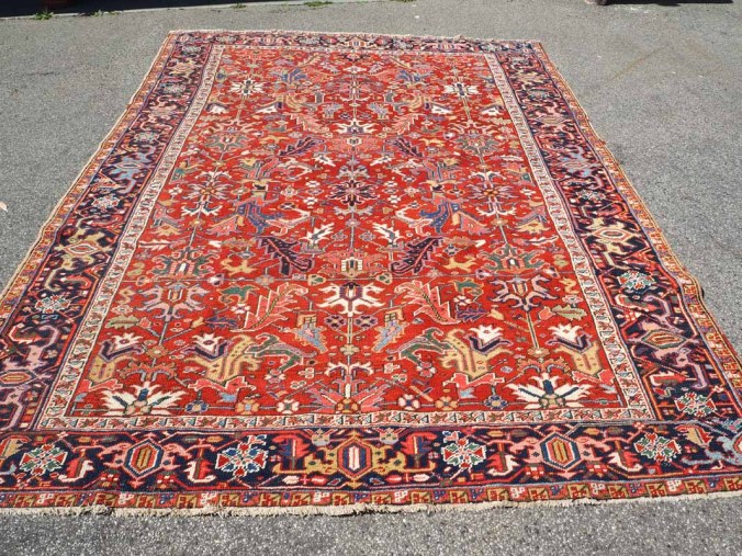 A fine Persian wool on wool carpet from Heriz. Approximatley 80 - 90 years old