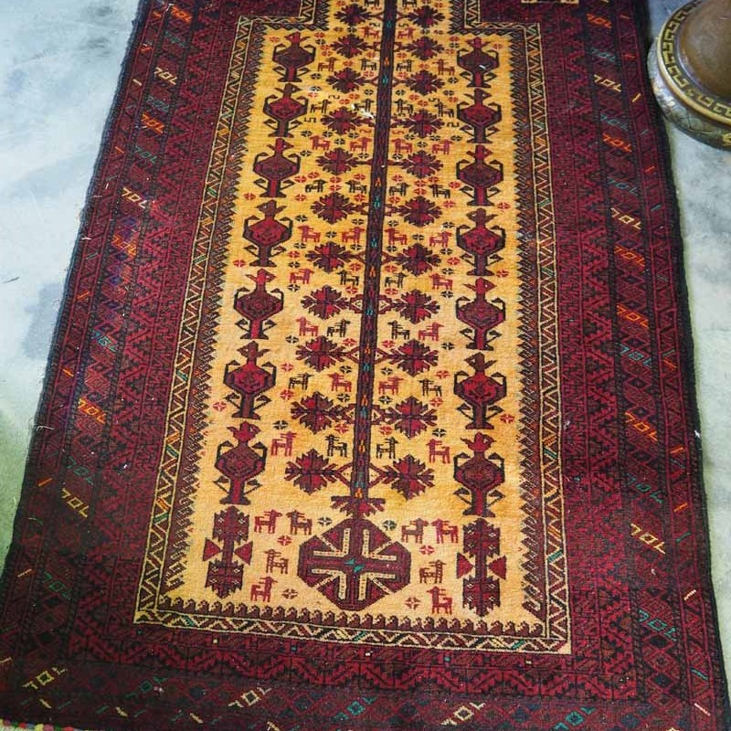 Balouch Carpet Bourdak. Approximately 20 - 30 years old.