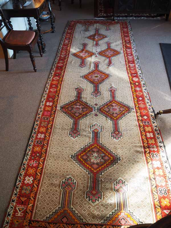 Hand made Double knotted wool on wool Runner Ezerum, Turkey. Approximately 150 years old